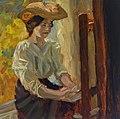 Frieda Kretschmann-Winckelmann - Self at the painting easel.jpg