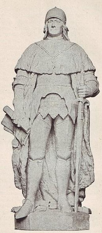 Frederick II, Elector of Brandenburg - Statue by Alexander Calandrelli, 1898, former Siegesallee, Berlin