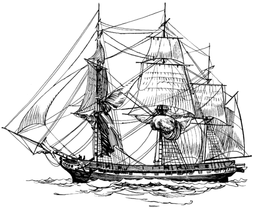 british sailing warship coloring pages - photo#2