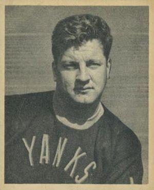 Fritz Barzilauskas - Barzilauskas on a 1948 Bowman card