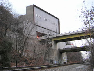 Fort Pitt Tunnel - North Portal of Fort Pitt Tunnel