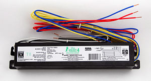 Electrical ballast - A modern ballast for powering four F32T8 office lamps.