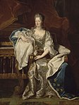 Full portrait of Marie Anne de Bourbon (1666-1739), Dowager Princess of Conti as depicted by Riguad in 1706.jpg