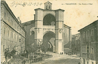 San Benito el Real, Valladolid - 1924 photograph of the church.