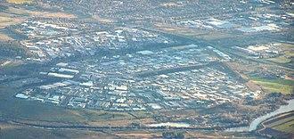 Fyshwick, Australian Capital Territory - Fyshwick from the northeast