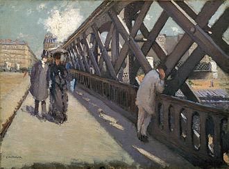 Le Pont de l'Europe - Image: G. Caillebotte Le pont de l'Europe
