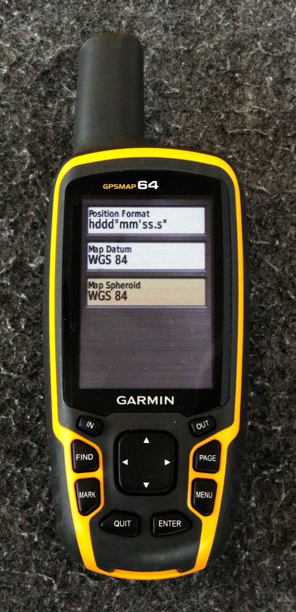 GPS, Einstellung des Formates der Koordinaten auf hddd mm ss