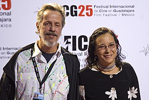 Gabriel Retes - Retes with actress Lourdes Elizarraras in March 2010