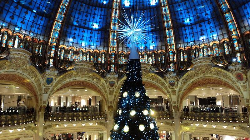 Decoração de natal das Galeries Lafayette