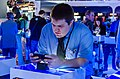 Gamer with PS Vita at E3 2012 (7165413091).jpg