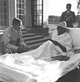 Gandhi with Thakin Nu at Birla House.jpg