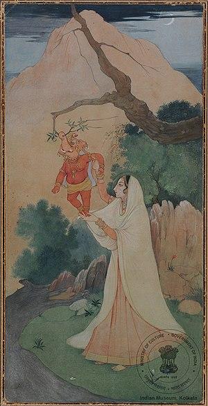 Mythological anecdotes of Ganesha - Parvati playing with baby Ganesha