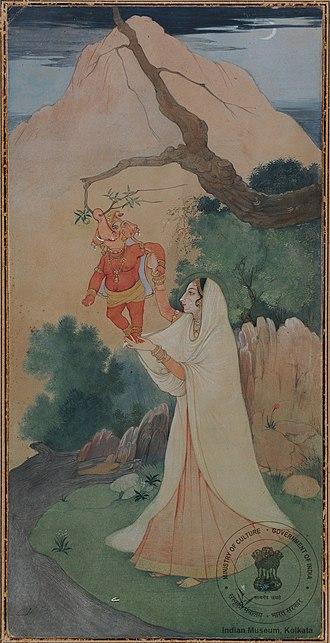 """Abanindranath Tagore - """"Ganesh-janani"""" by Abanindranath Tagore"""
