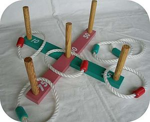 Quoits - Typical set of garden quoits