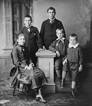 James Rudolph Garfield - James R. Garfield (first boy from left) and siblings