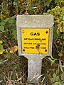 Gas pipeline marker in Reepham Road - geograph.org.uk - 1521297.jpg