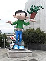 Gaston Lagaffe statue. Boulevard Pachéco. Brussels.jpg