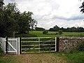Gate infield from churchyard All Saints Church, Hilborough, Norfolk - geograph.org.uk - 854660.jpg