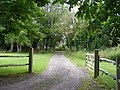 Gated entrance to Flint Cottages near to Michelham Priory - geograph.org.uk - 1405982.jpg