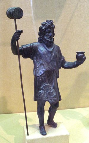 Sucellus - The Celtic god Sucellus with his characteristic hammer and olla.