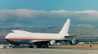 CFM International CFM56 - The CFM56 Being tested on GE's 747 in 2002
