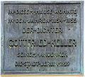Gedenktafel Bauhofstr 2 Gottfried Keller.JPG