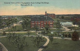 Durham, New Hampshire - General View of UNH in 1913