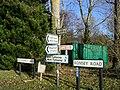 Generously labelled T junction in Lockerley - geograph.org.uk - 650122.jpg
