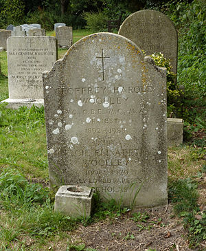 Geoffrey Woolley - Geoffrey Woolley's grave at St Mary's Church, West Chiltington, Sussex