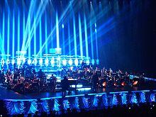 L'orchestra sinfonica del Symphonica Tour nel 2011