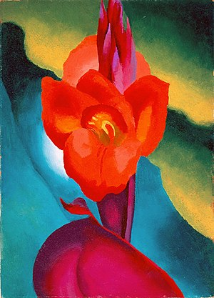 Red Canna (paintings) - Georgia O'Keeffe, Red Canna, 1919, High Museum of Art, Atlanta