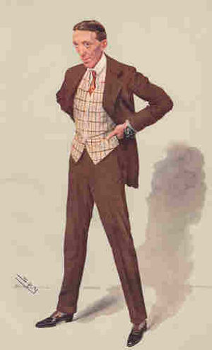 Gerald du Maurier - du Maurier caricatured by Spy for Vanity Fair, 1907.