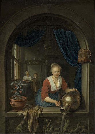 Gerrit Dou - Maid at the Window, c. 1660