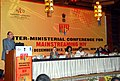 Ghulam Nabi Azad addressing at the valedictory function of Inter-Ministerial Conference on Mainstreaming HIV, in New Delhi. The Ministers of State for Health and Family Welfare.jpg