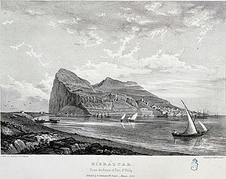 Lines of Contravallation of Gibraltar - Image: Gibraltar from the Ruins of Fort St Philip
