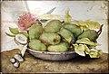 Giovanna garzoni, piatto di mandorle verdi con una rosa, 1642-51 ca. (pitti) 02.JPG