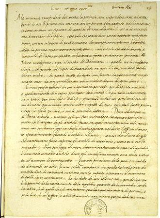 Vincenzo Galilei - Image: Girolamo mei letter