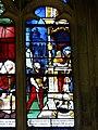Gisors (27), collégiale St-Gervais-et-St-Protais, collatéral nord, verrière n° 23 - vie des saints Crépin et Crépinien 6.jpg