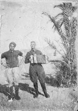 Giuseppe Torcasio on the right, WW2 North Africa