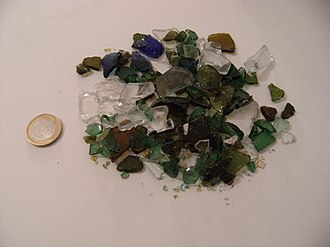Glass recycling - Mixed color glass cullet