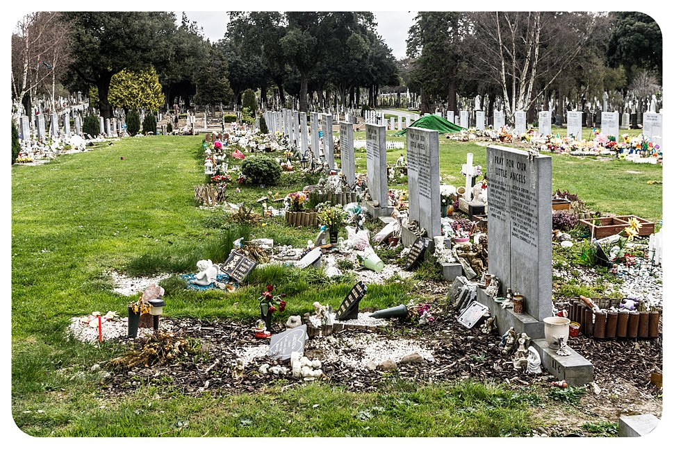 Glasnevin is one of the few cemeteries that allowed stillborn babies to be buried in consecrated ground and contains an area called the Angels Plot. (6905938656)