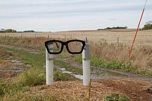 Buddy Holly - Signpost near the Clear Lake crash site