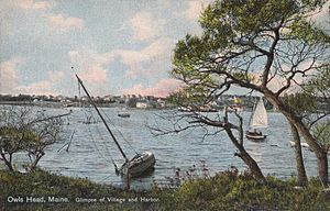 Glimpse of Village & Harbor, Owls Head, ME.jpg