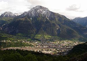 Die Gemeinden Brig-Glis und Naters vor dem Glishorn