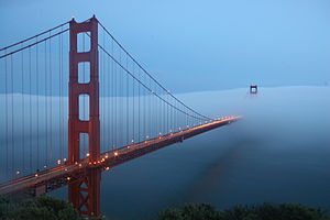 San Francisco fog - Fog over the Golden Gate Bridge