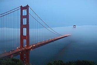San Francisco fog - Fog over the Golden Gate Bridge