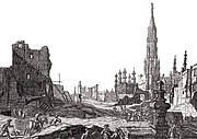 Grand Place after the 1695 bombardment by the French army