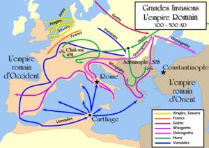 Carte du Völkerwanderung