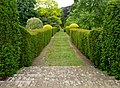 Grass path by the rose terraces in Mount Ephraim Gardens, Staplestreet, near Hernhill (geograph 2431448).jpg