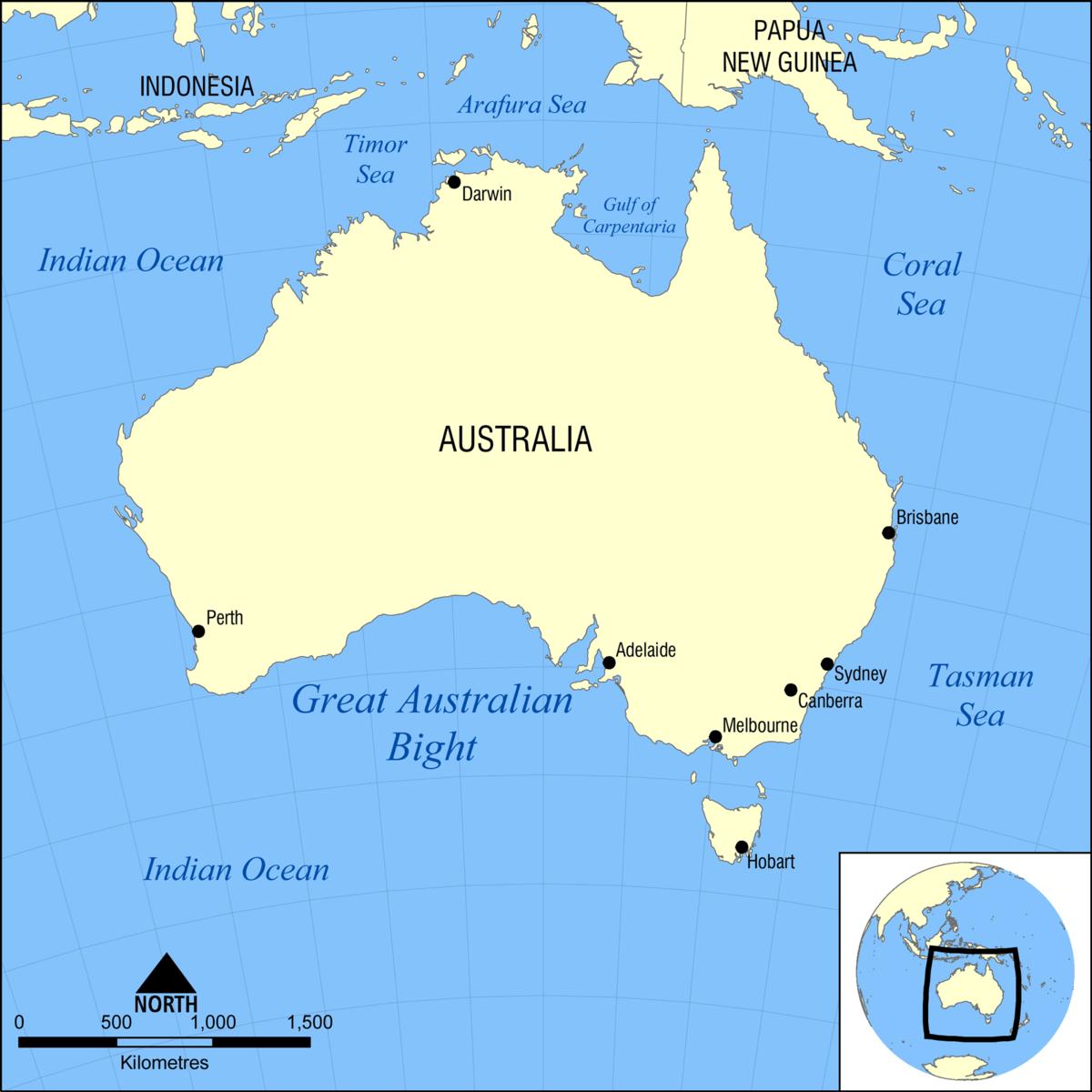 Map Around Australia.Great South Australian Coastal Upwelling System Wikipedia